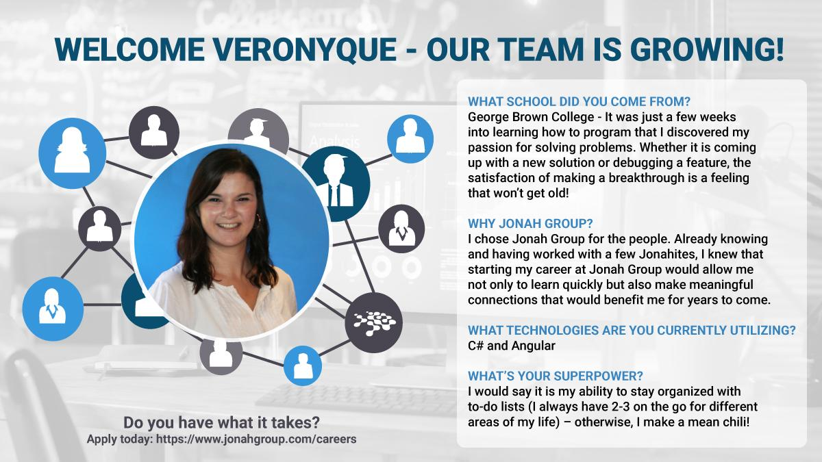 Welcome Veronyque - Our Team is Growing
