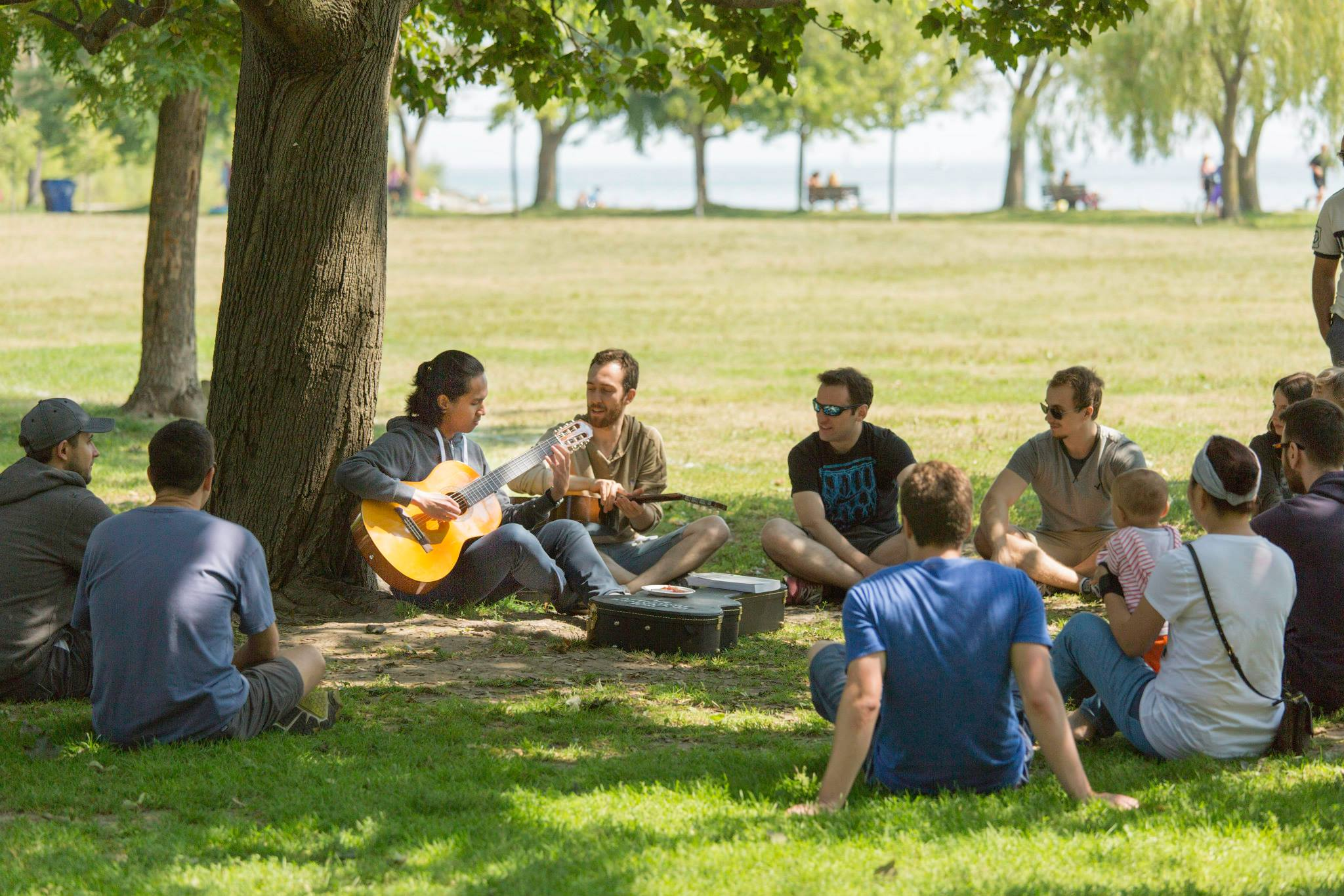Group plays music at Jonah Day